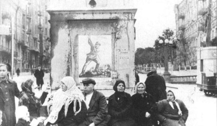 Начало бульвара Шевченко. Сентябрь 1941 г.