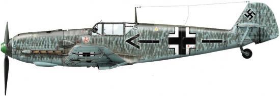 Dekker Thierry. Истребитель Bf-109 E-4.