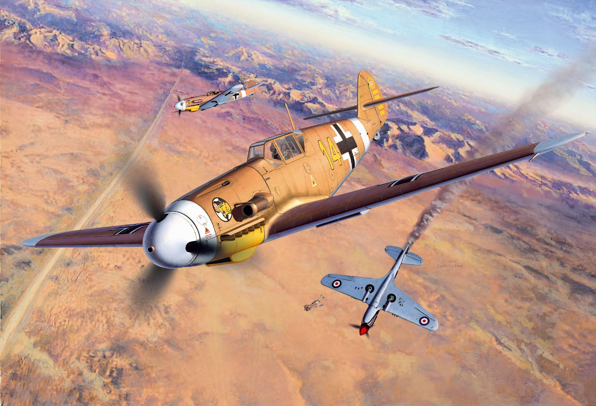 Friedl Egbert. Истребитель Bf-109 F2/4.