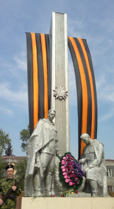 с. Ключи. Памятник погибшим воинам на войне.