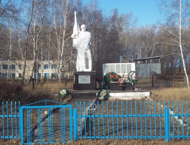 с. Черная Курья Мамонтовского р-на. Памятник погибшим в годы Великой Отечественной войны.