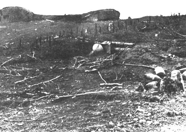 Крепость во время битвы за линию Метаксаса.
