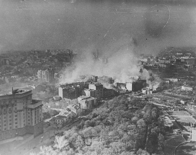 Район площади Европейской. Ноябрь 1943 г.