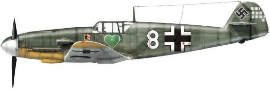 Dekker Thierry. Истребитель Bf-109-F-2.