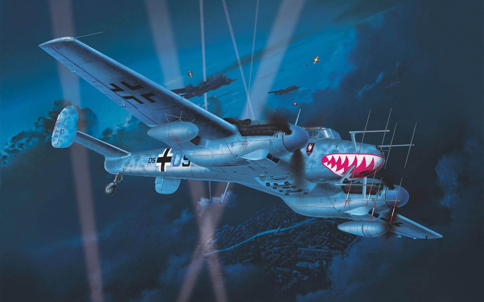 Friedl Egbert. Истребитель Bf-110 G-4.