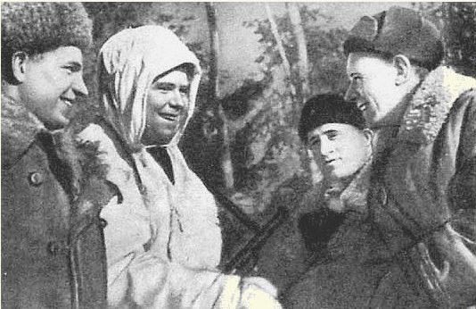 Поздравления А. Калинина с присвоением звания Героя Советского Союза. 1942 г.