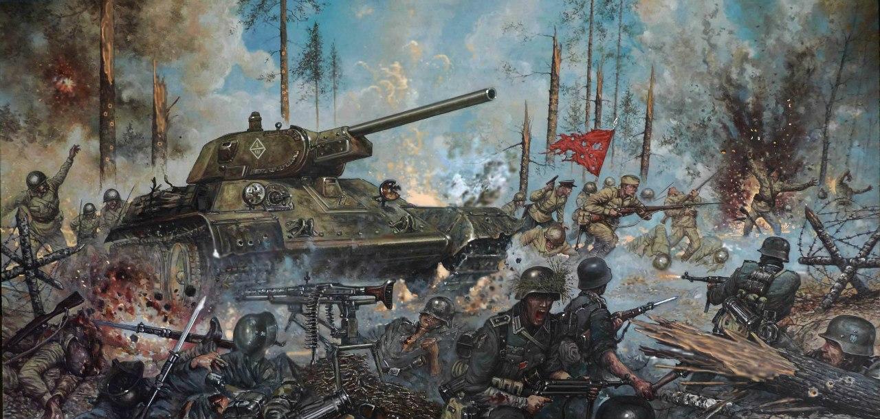 Болтышев Виктор. Ржев август 1942 г. Бой в городском лесу.