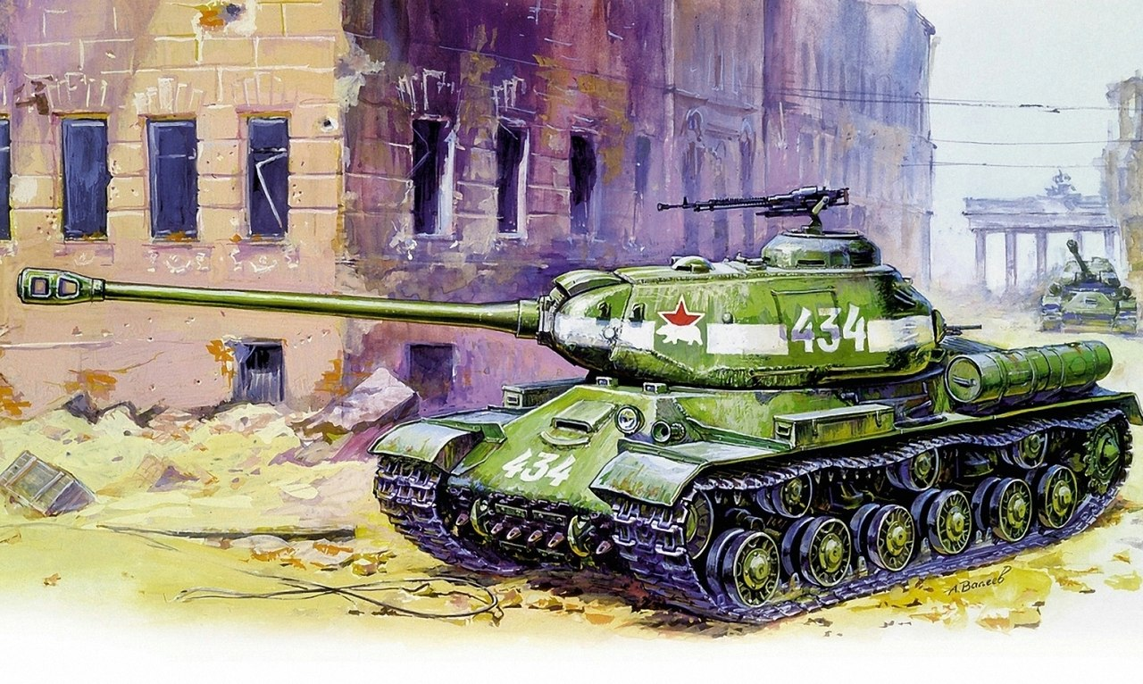 Валеев Антон. Танк ИС-2.