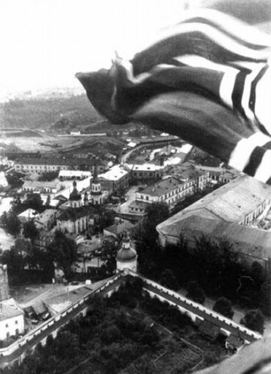 Фото с лаврской колокольни. Сентябрь, 1941 г.