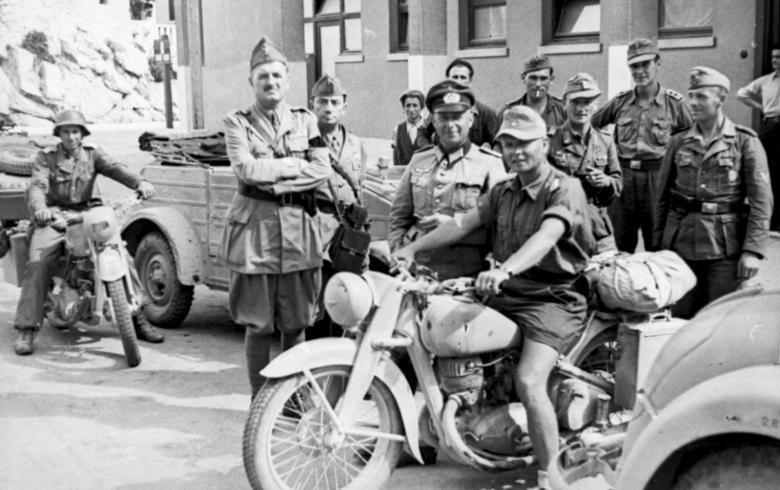 Югославия. Мотоцикл DKW NZ-350. 1943 г.