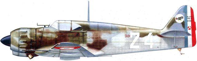 Dhorne Vincent. Истребитель Bloch MB.152 C1.