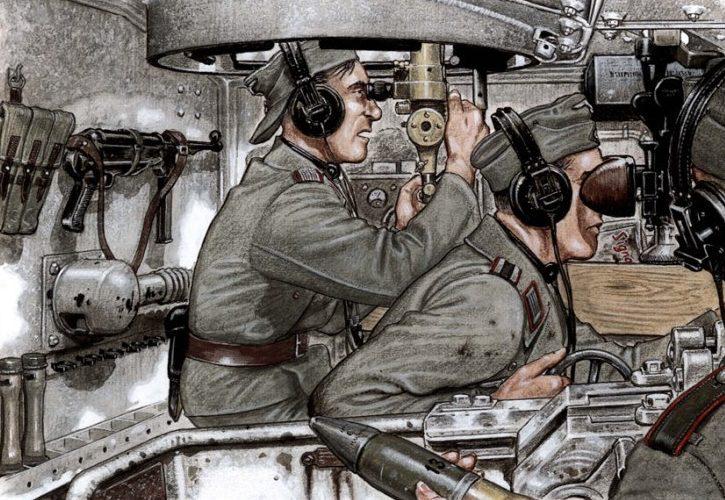 Badrocke Mike. Экипаж германской САУ StuG.III за работой.