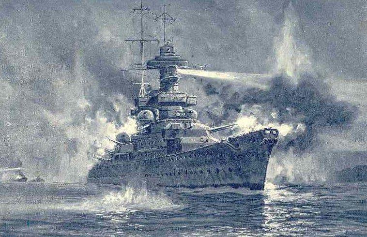 Bock Adolf. Морской бой.