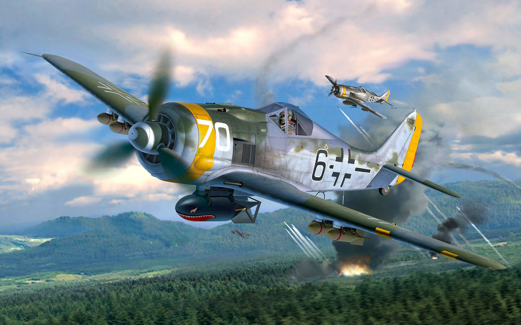Friedl Egbert. Истребитель Fw-190F-8.