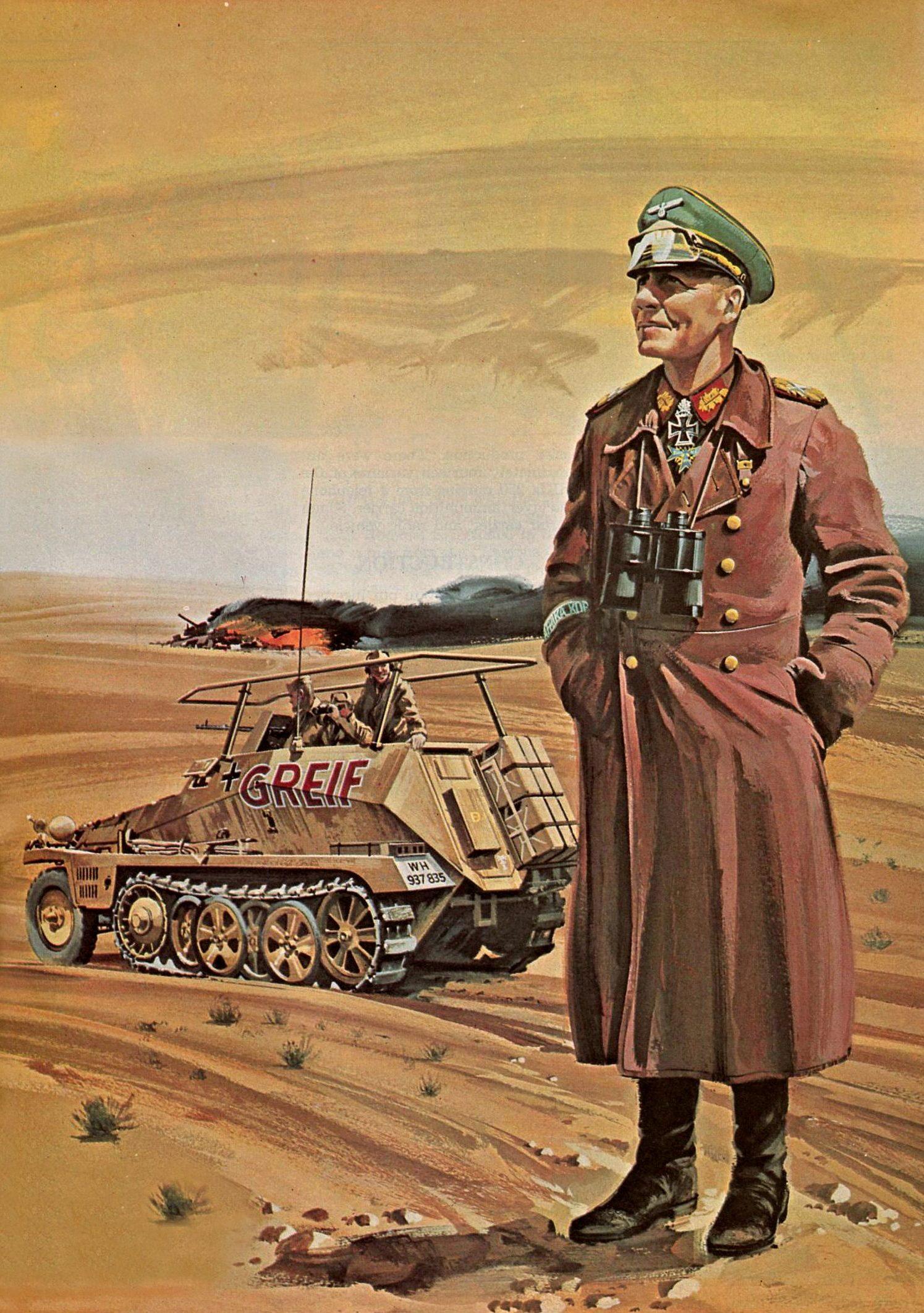 Kuhni Otto. Генерал Erwin Rommel.