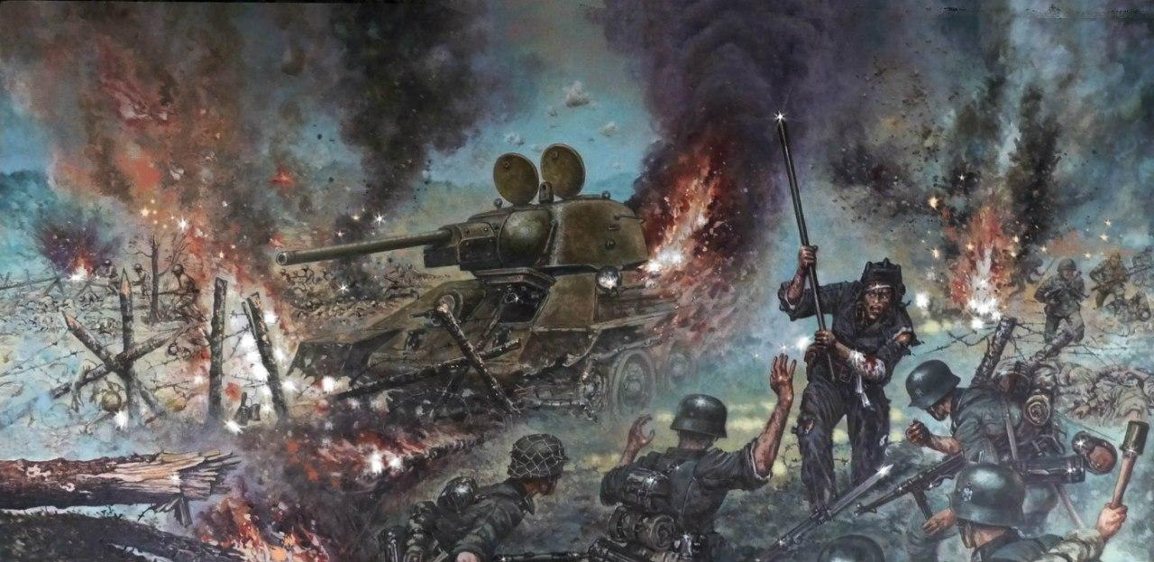 Болтышев Виктор. Ржев август 1942 г. Подвиг лейтенанта Таюпова у деревни Харино-Теленково.
