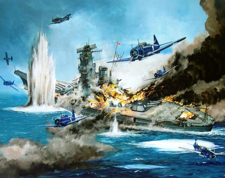 Guyot Michel. Атака на «Yamato».