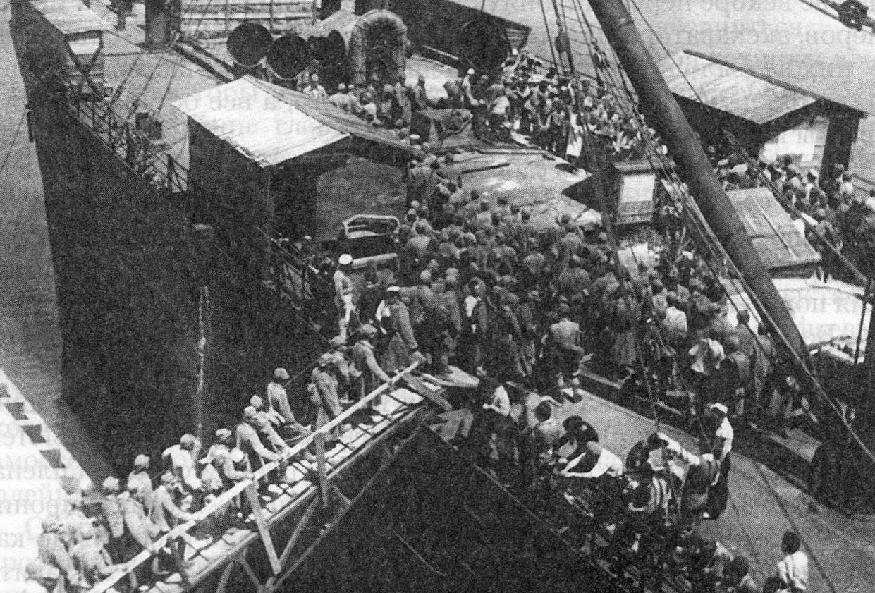 Отправка японских военнопленных домой. Находка, 1950 г.