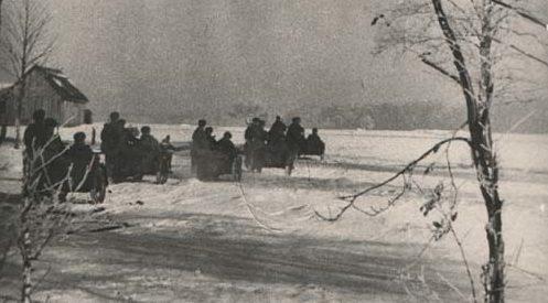 Подразделение мотоциклистов. 1941 г.