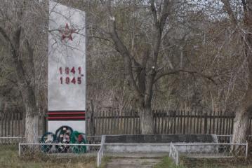п. Ленский Панкрушихинского р-на. Памятник воинам, погибшим в годы войны.