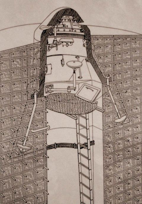 Схема наблюдательного купола 90P9.