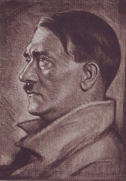 Bauer Karl. Портрет Гитлера.