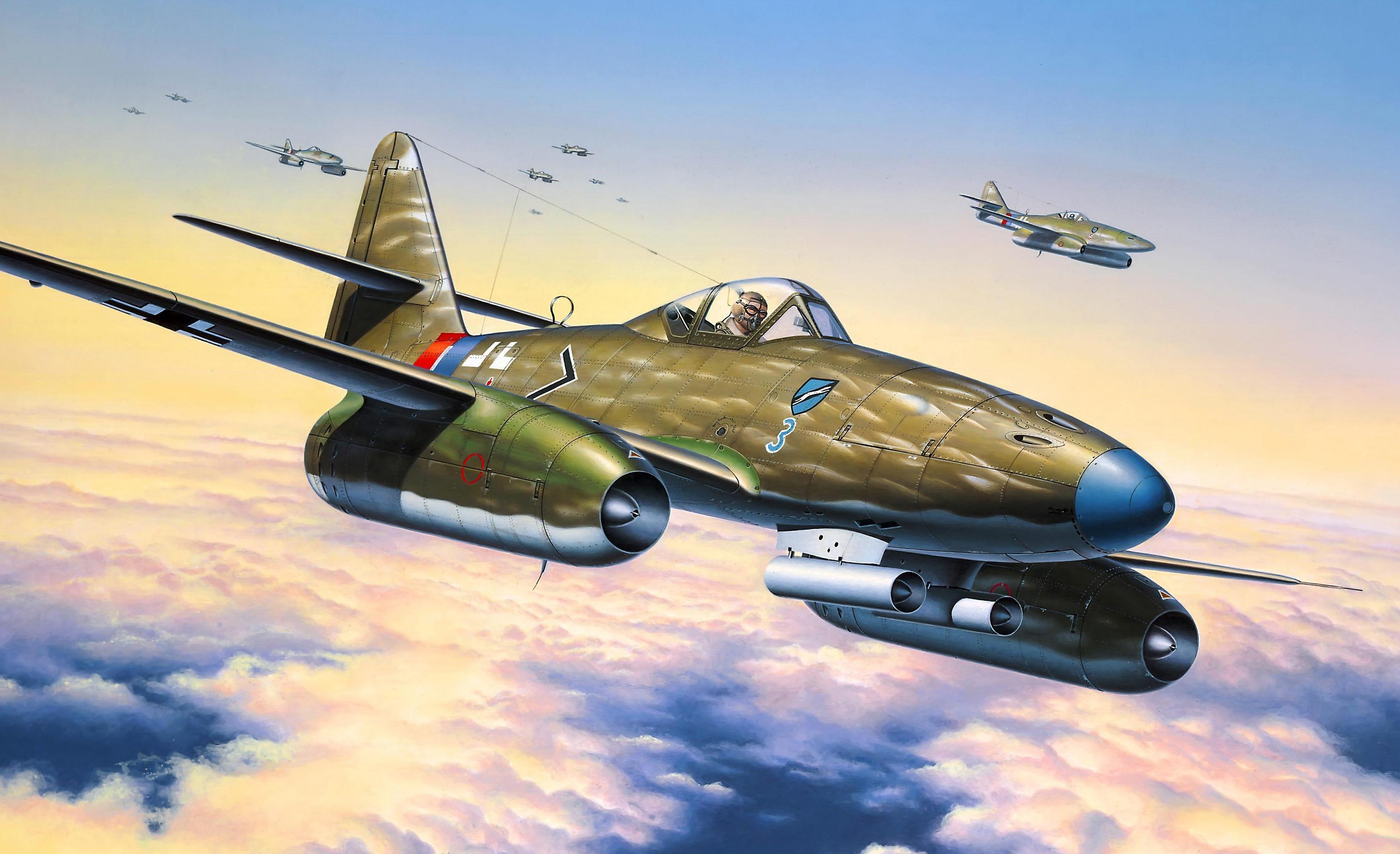 Friedl Egbert. Истребитель Me 262 A-1a.
