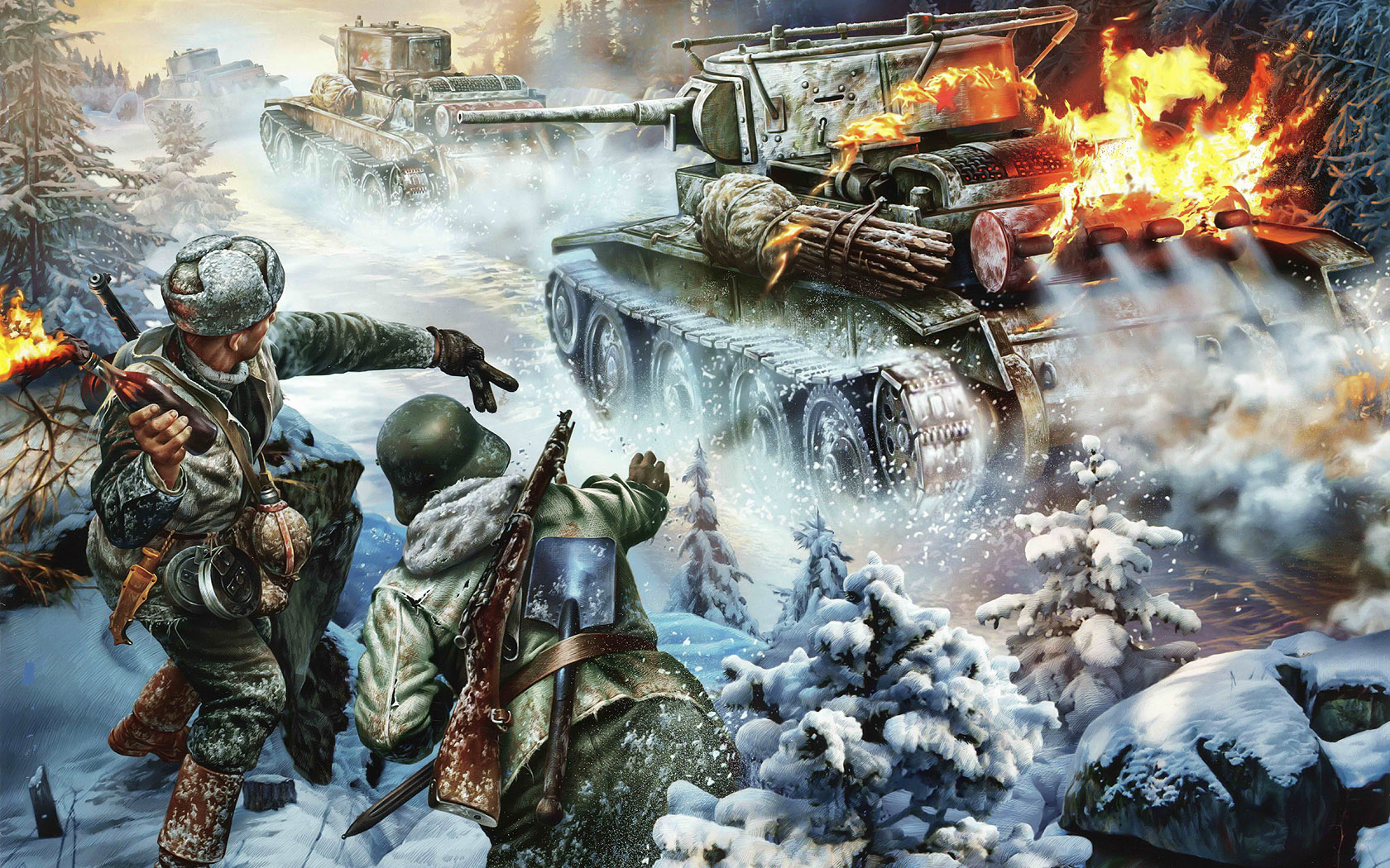 Варавин Игорь. Финские солдаты против танков.