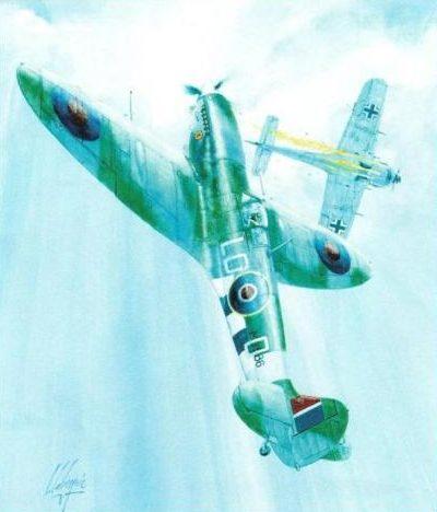 Labeyrie Lionel. Истребитель Supermarine Spitfire LF-IXC.