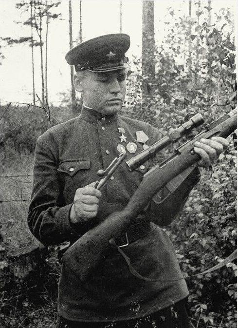 Снайпер-истребитель И.П.Антонов. КБФ. Июль 1943 г.