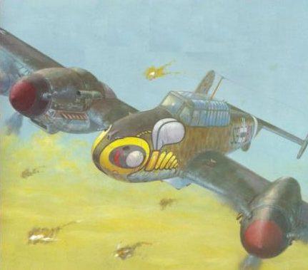 Labeyrie Lionel. Истребитель Bf-110 G-2.