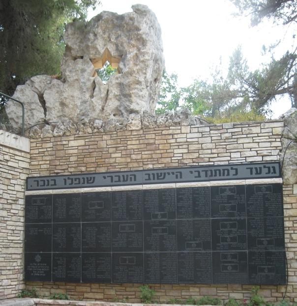 Памятник на военном кладбище.