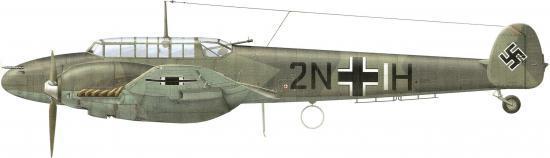 Dekker Thierry. Истребитель Bf-110 C-1.