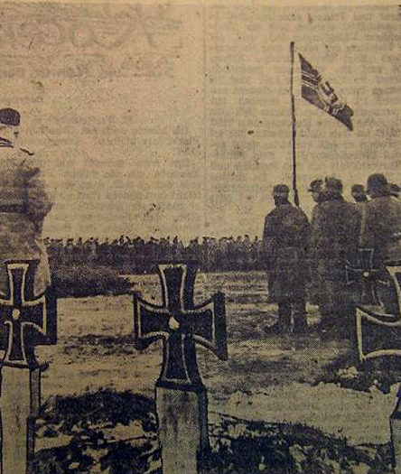 Немецкое кладбище в день поминовения погибших. 16 марта 1943 г.