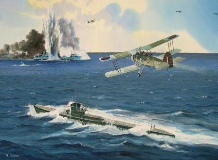Guyot Michel. Битва в Атлантике.