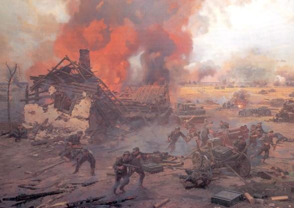 Аверьянов Александр. Фрагмент диорамы «Курская битва».