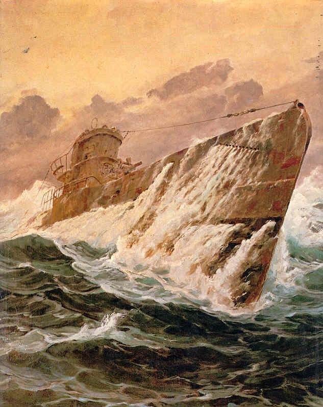 Bergen Claus Friedrich. Подлодка в походе.