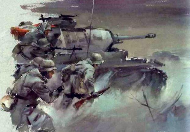 Liska Hans. Танковая атака.