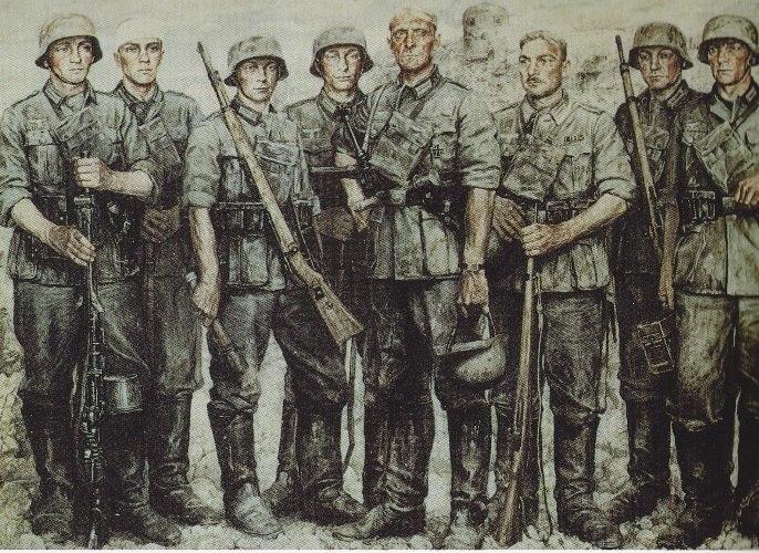 Sauter Wilhelm. Солдаты.