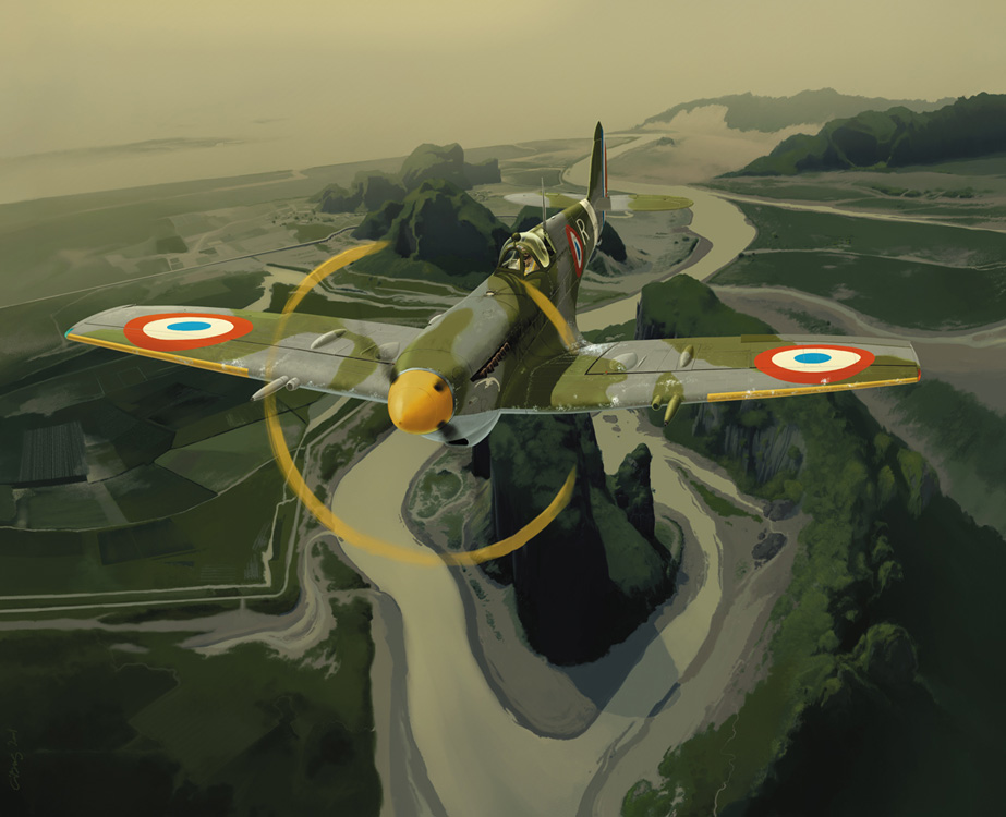 Gibelin Christophe. Истребитель Supermarine Spitfire LF Mk.IX.