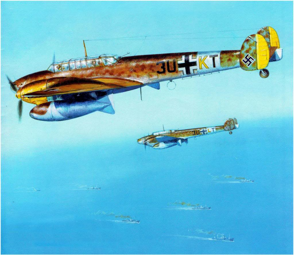 Labeyrie Lionel. Истребители Bf-110E.