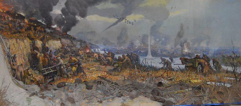 Штурм линии Вотан на реке Молочной. Диорама краеведческого музея Мелитополя.