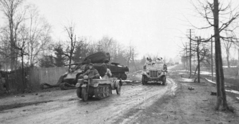 Вездеход SdKfz 2 Kettenkrad. Россия. 1944 г.