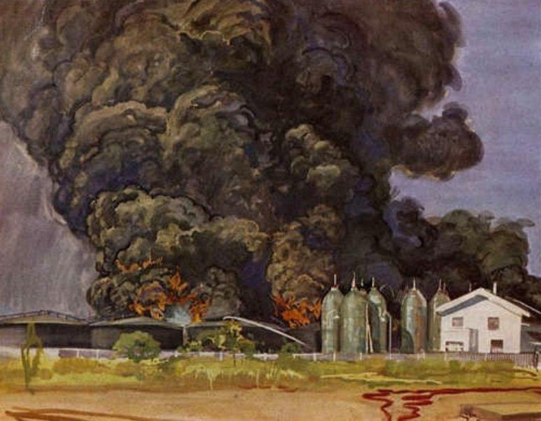Janesch Albert. Пожар на топливном складе.