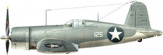 Dekker Thierry. Истребитель Vought F-4U-1.