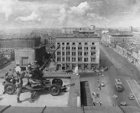 Зенитная артиллерия на страже города. Июль. 1941 г.