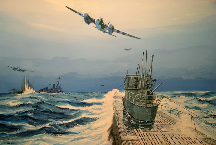 Guyot Michel. Битва за Атлантику.