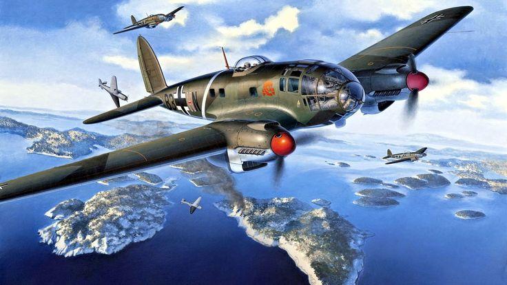 Friedl Egbert. Бомбардировщик He 111P-1.
