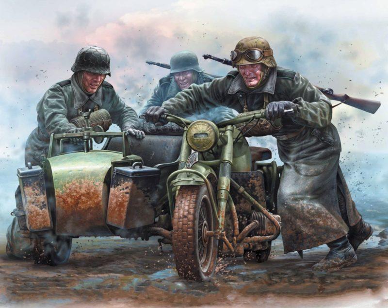 Варавин Игорь. Немецкие мотоциклисты.