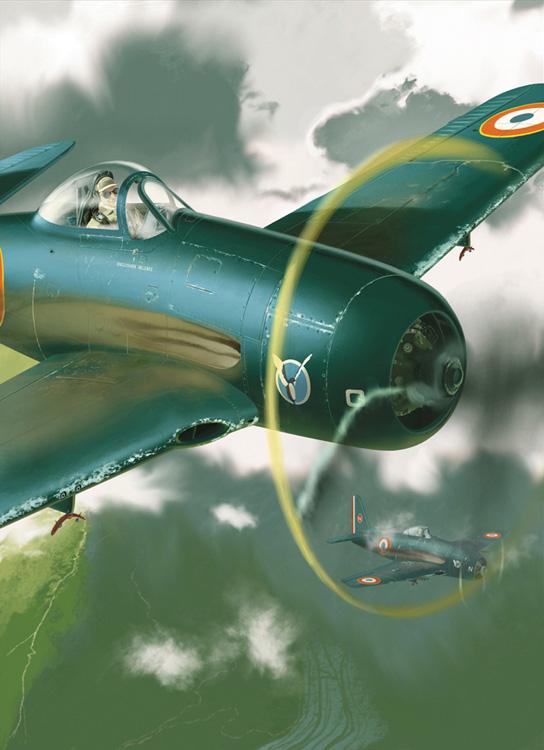 Gibelin Christophe. Истребители Grumman F8F-1 Bearcat.